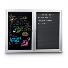 "27 x 46"" Black Dry Erase Insert Panel"
