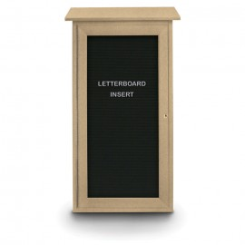 "16 x 34"" Mini Enclosed Letterboard Message Board"