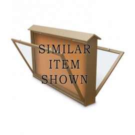 "45 x 36"" Double-Sided Bottom Hinge Enclosed Cork Message Center"