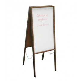"22 x 38"" x 1/2"" Walnut Dry Erase Sandwich Board"