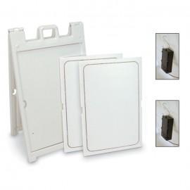 "Printable Corrugated LED Sign 24 x 36""- Plastic A-frame Complete Kit"
