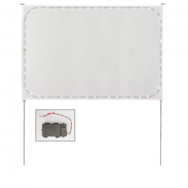 """Printable Corrugated LED Sign 24 x 36""""- Complete Stake Kit"""