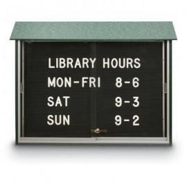 "45 x 36"" Sliding Door Letterboard Message Centers"