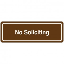 No Soliciting Directional Sign