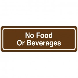 No Food Or Beverages Directional Sign