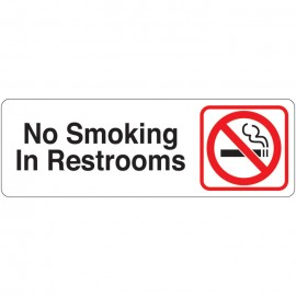No Smoking In Restrooms Directional Sign