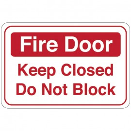 Fire Door (Keep Closed Do Not Block) Facility Sign