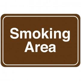 Smoking Area Facility Sign