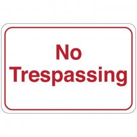 No Trespassing Facility Sign