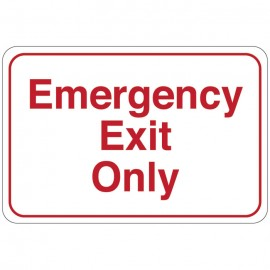 Emergency Exit Only Facility Sign