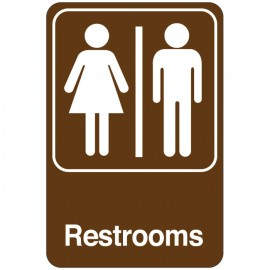 Restrooms Facility Sign