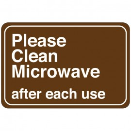 Please Clean Microwave after each use Facility Sign