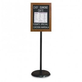 Black Base/ Wood Frame Pedestal Easy Tack Board