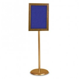 Gold Base/ Wood Frame Pedestal Easy Tack Board