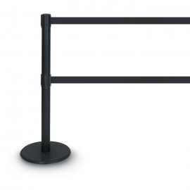 Black Double Tape Posts- 1300 Series 12'