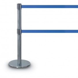 Chrome Double Tape Posts- 1300 Series 7'