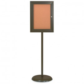 Bronze Base/ Bronze Frame Pedestal Corkboard