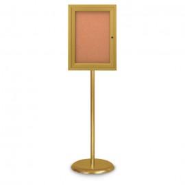 Gold Base/ Gold Frame Pedestal Corkboard