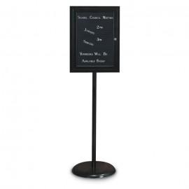 Black Base/ Black Frame Pedestal Letterboard