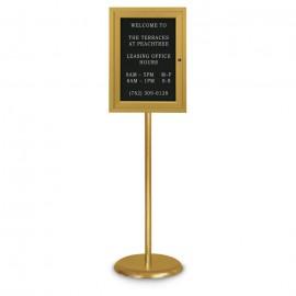 Gold Base/ Gold Frame Pedestal Letterboard