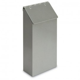"5 x 10"" x 2"" One Pocket Aluminum Pamphlet Dispenser"