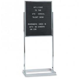"""14 x 22"""" Black Plastic Letterboard Insert"""
