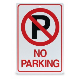 "12 x 18"" No Parking with Symbol Parking Lot Sign"