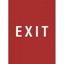 "9 x 12"" Exit Acrylic Sign"