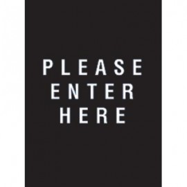 "9 x 12"" Please Enter Here Acrylic Sign"