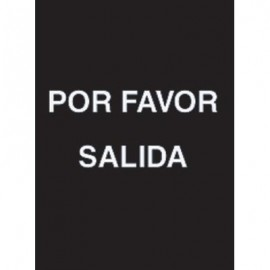 "7 x 11"" Por Favor Salida Acrylic Sign"