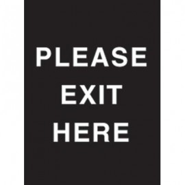 "9 x 12"" Please Exit Here Acrylic Sign"