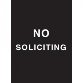 "9 x 12"" No Soliciting Acrylic Sign"