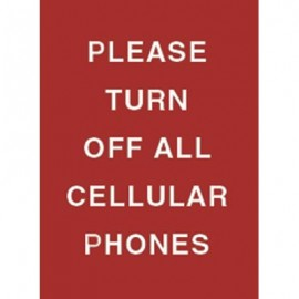 "7 x 11"" Please Turn Off All Cellular Phones Acrylic Sign"