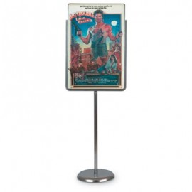 "22 x 28"" Chrome Sign/Poster Pedestal Holder"
