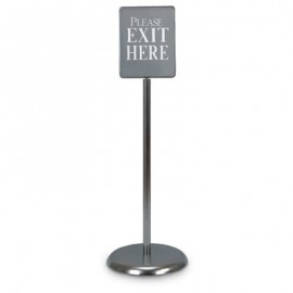 "7 x 11"" Chrome Sign/Poster Pedestal Holder"
