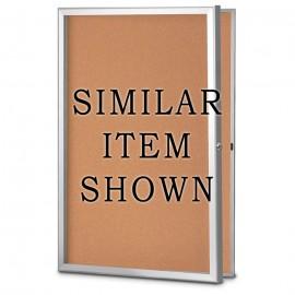 11 X 13.5 Standard Slim Style Radius Framed Corkboard