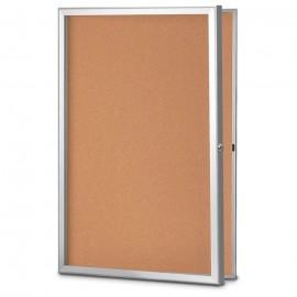 18 X 24 Standard Slim Style Radius Framed Corkboard