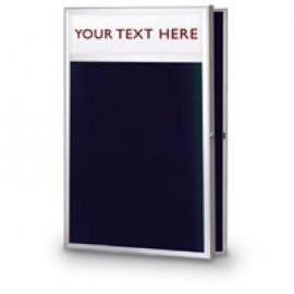 "24 x 36"" Slim Style Radius Framed Enclosed Letterboard"