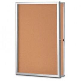 "42 x 32"" Standard Slim Style Radius Framed Corkboard"