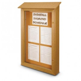 "38 x 54"" Single Door Enclosed Cork Message Centers"