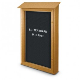 "32 x 48"" Single Door Enclosed Letterboard Message Centers"
