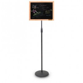 """20 x 15"""" Black Dry Erase Wood Frame Pedestal Board"""