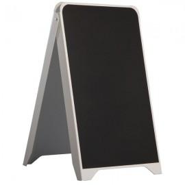 "Plastic A Frame - 19-7/10"" x 34-13/20"" Poster Size White Body & Black Chalkboard"