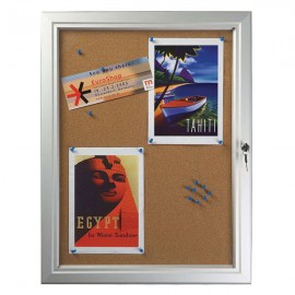 Cork  4 x (8-1/2 x 11) Capacity Silver Aluminum Frame, Single Key Weatherproof