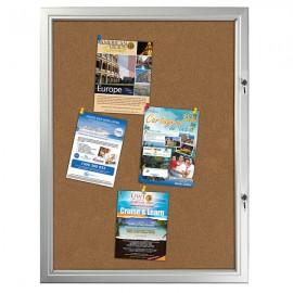 Cork  9 x (8-1/2 x 11) Capacity Silver Aluminum Frame, Double Key Weatherproof